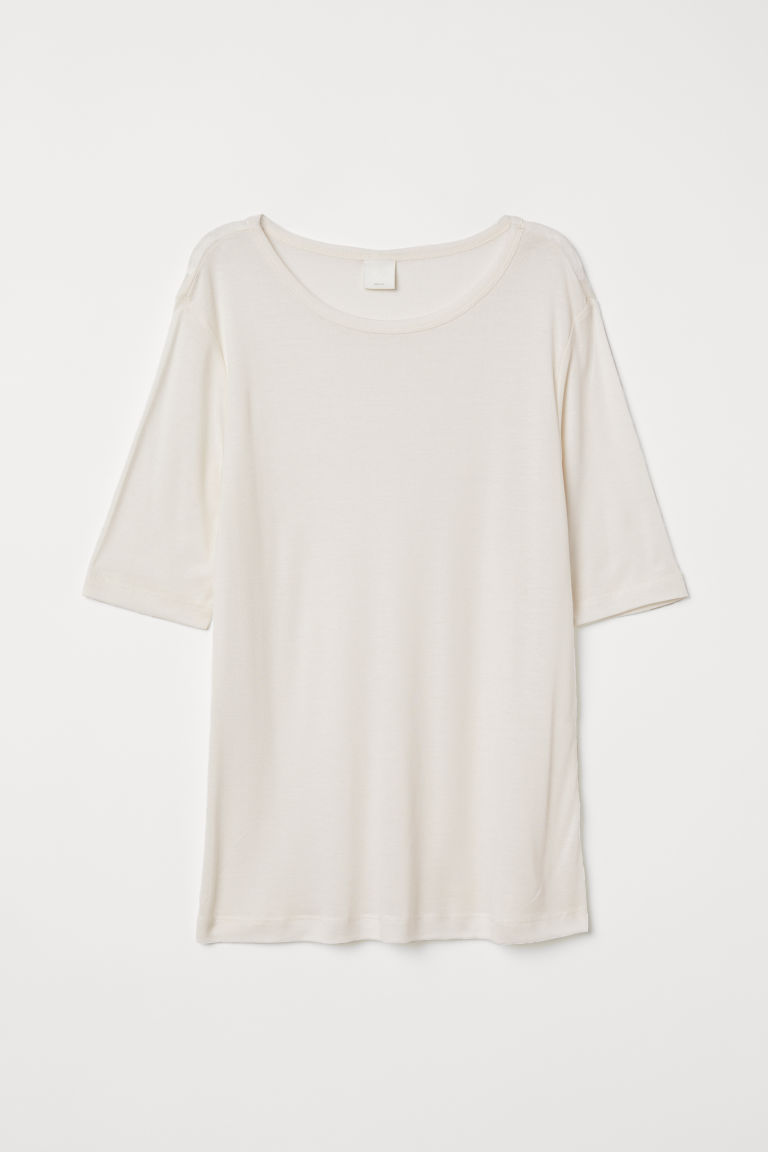 Top in jersey - Bianco naturale - DONNA | H&M CH
