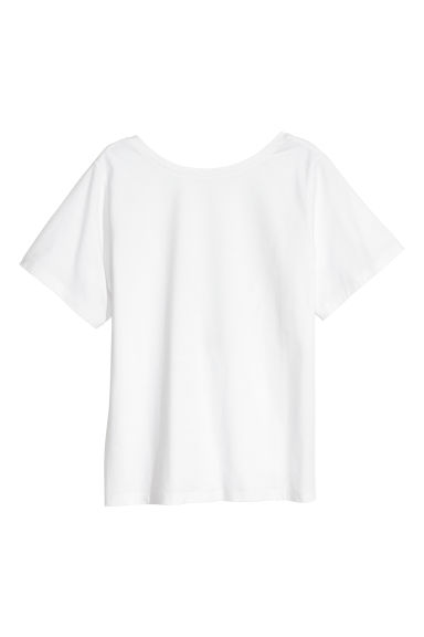 Top with a low back - White -  | H&M GB