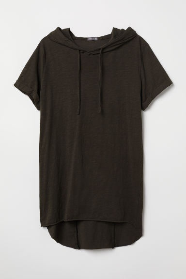 Hooded T-shirt - Black - Men | H&M