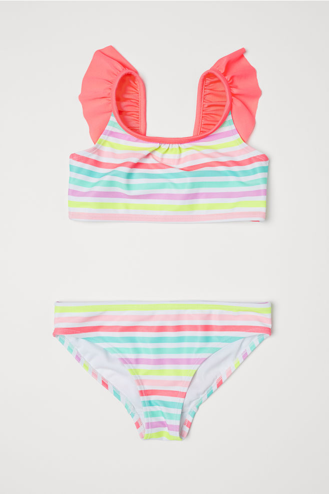 0ef6cbd8f1ec3 Patterned Bikini - Coral/striped - Kids | H&M ...