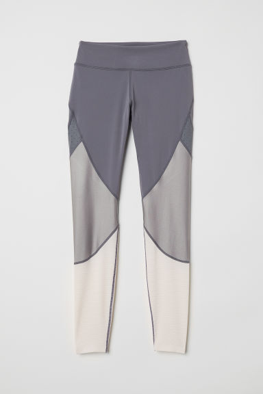 Sports tights - Dark grey -  | H&M CN