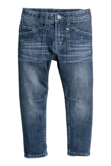 Relaxed Tapered Fit Jeans - Albastru-denim -  | H&M RO