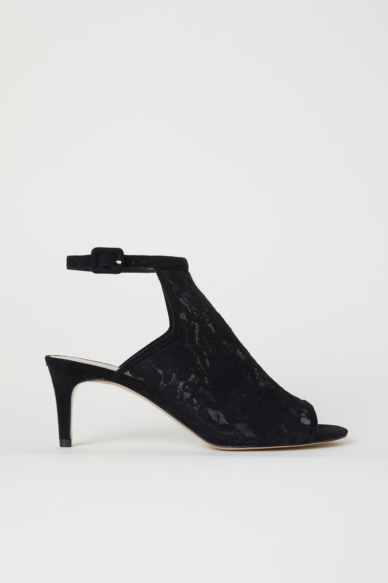 Lace sandals - Black - Ladies | H&M CN