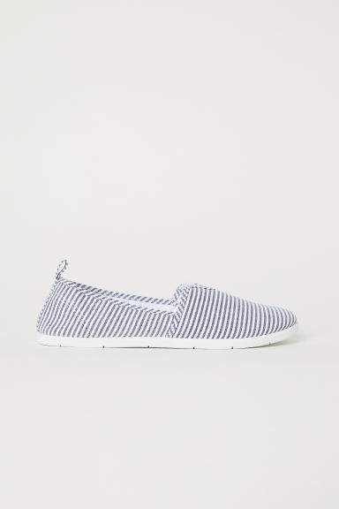 Sneakers slip-on - Bianco/blu righe - DONNA | H&M IT