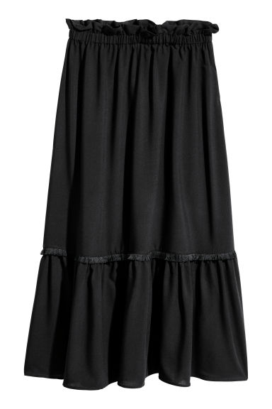 Calf-length skirt - Black -  | H&M