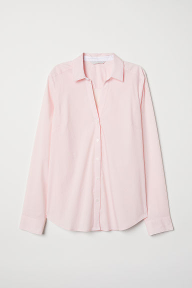 V-neck shirt - Light pink/Striped - Ladies | H&M