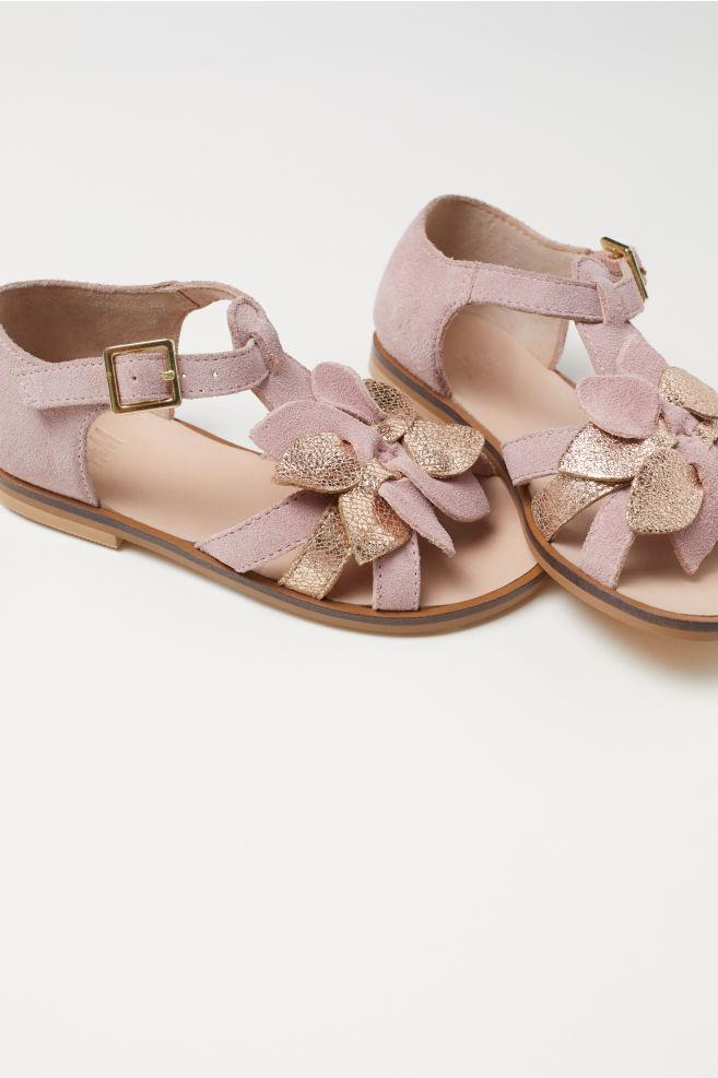b911375d558 Suede sandals - Pink Gold-coloured - Kids