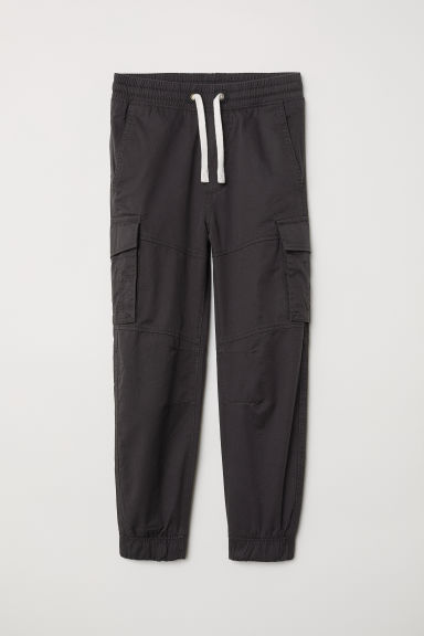 Jersey-lined cargo trousers - Black - Kids | H&M