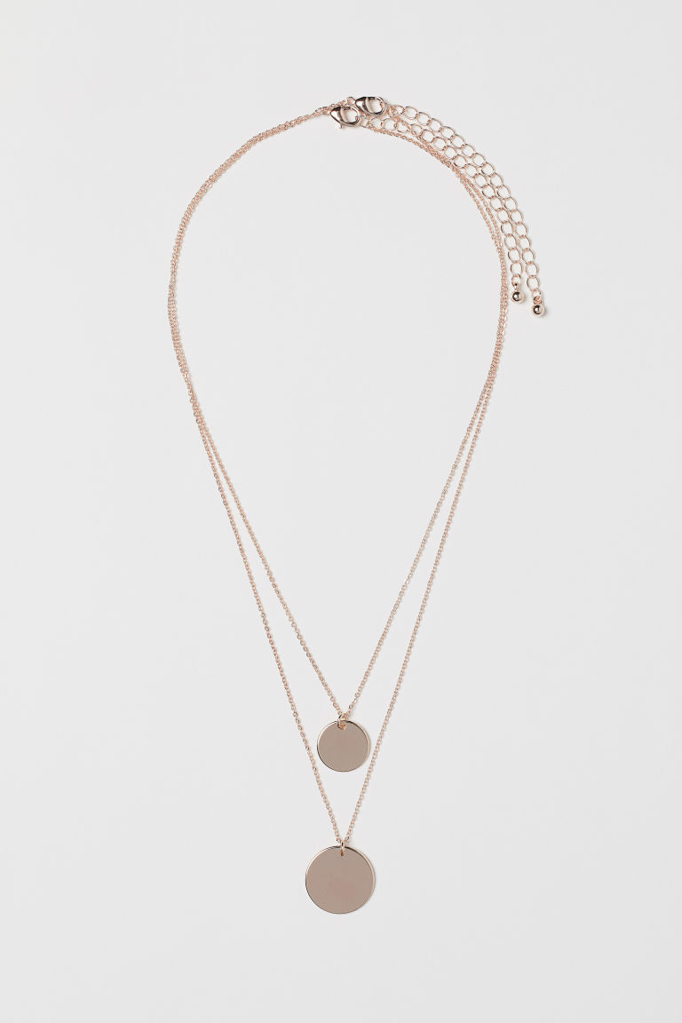 2-pack Necklaces - Rose gold-colored - Ladies | H&M US