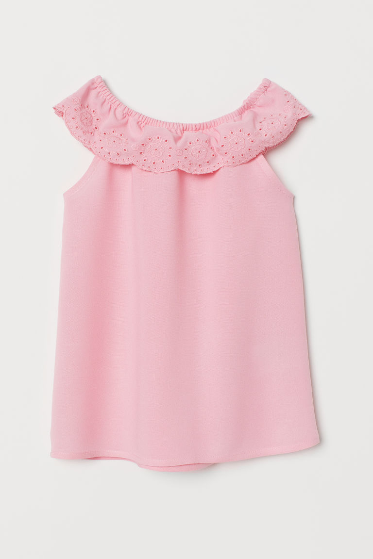 Dress with broderie anglaise - Pink - Kids | H&M