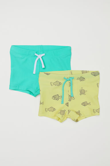 2-pack swimming trunks - Light green/Fish - Kids | H&M CN