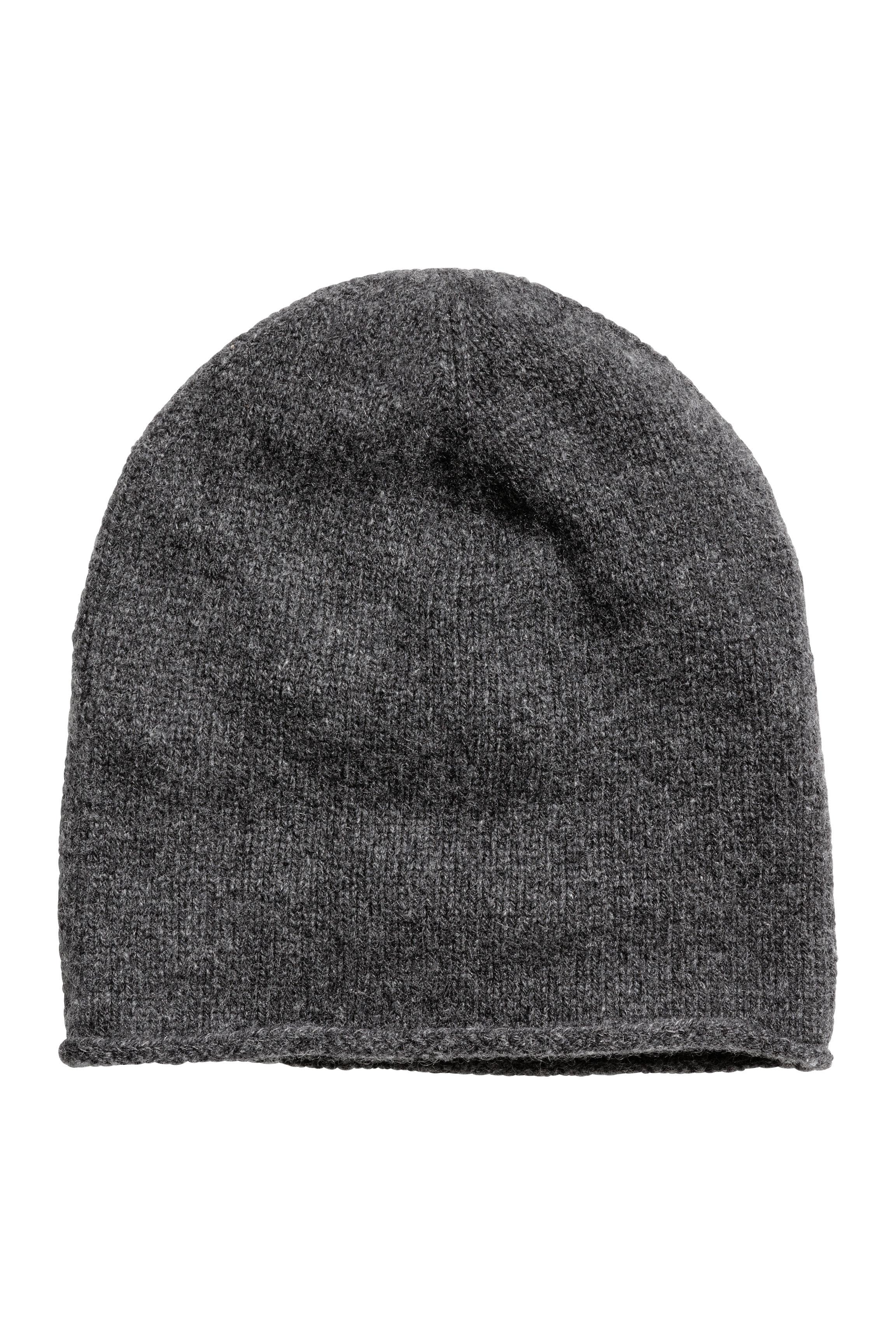 988744abd01 Cashmere Hat - Black - Ladies