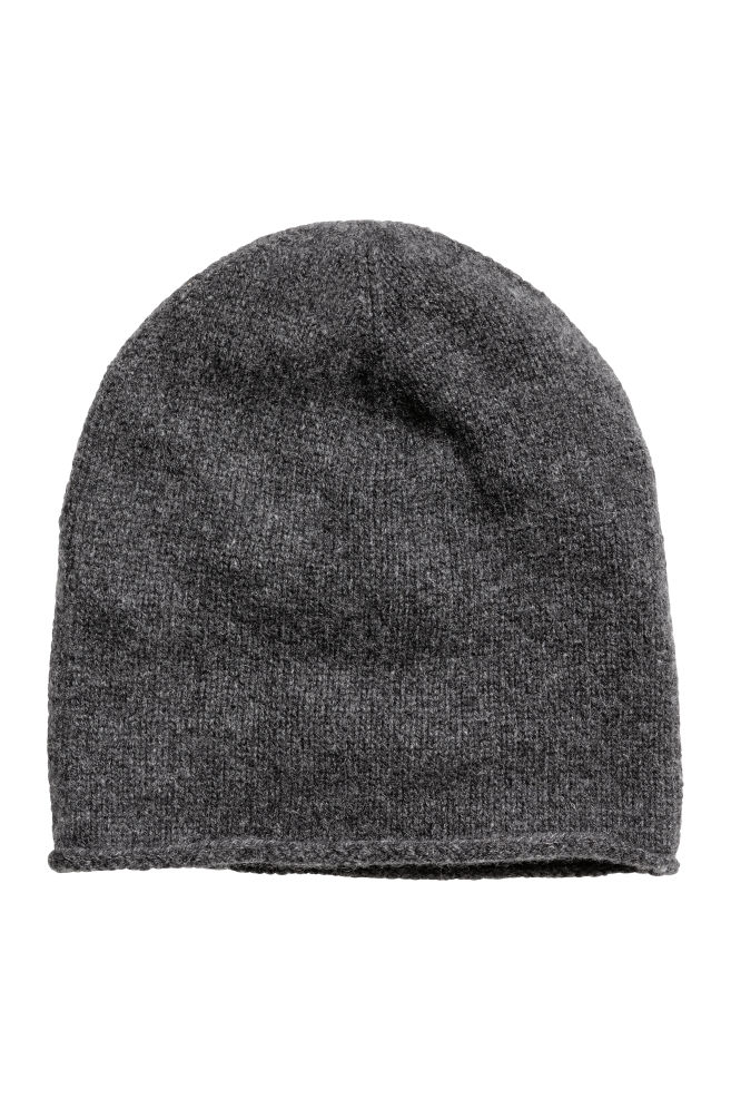 Cashmere hat - Dark grey marl - Ladies  b19f2ef94997