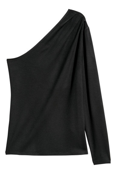 One shoulder-topp - Svart - DAM | H&M FI