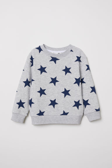Sweatshirt - Grey/Stars - Kids | H&M