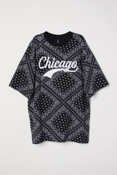T-shirt met dessin - Zwart/Chicago -  | H&M BE