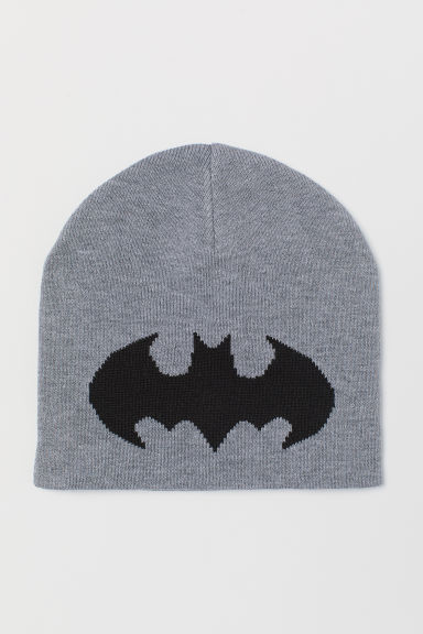 Knitted hat - Grey marl/Batman - Kids | H&M CN