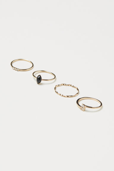 4-pack Rings - Gold-colored -  | H&M US