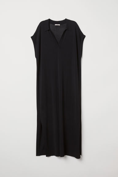 Dress with a collar - Black - Ladies | H&M