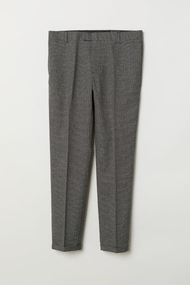 Suit trousers Skinny Fit - Black marl - Men | H&M