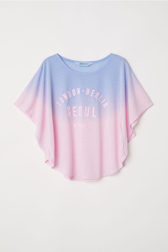 Широкая футболка с принтом - Голубой London-Berlin - Дети   H M ... e152a1906dc
