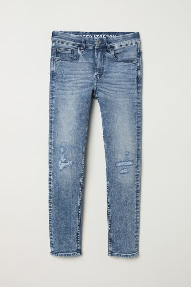 Superstretch Skinny Fit Jeans - Denim blue washed out -  | H&M CN