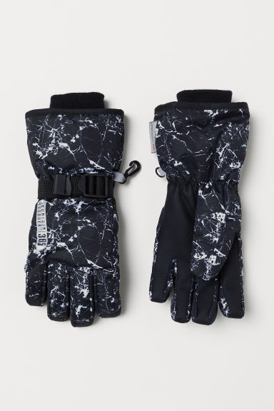 Ski gloves - Black/White speckled - Kids | H&M IE