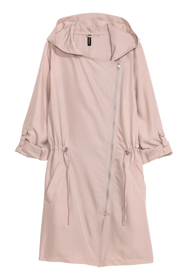Modal-blend parka - Light mole -  | H&M IE