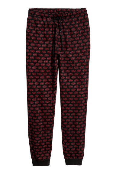 Printed pyjama bottoms - Red/Black patterned -  | H&M GB