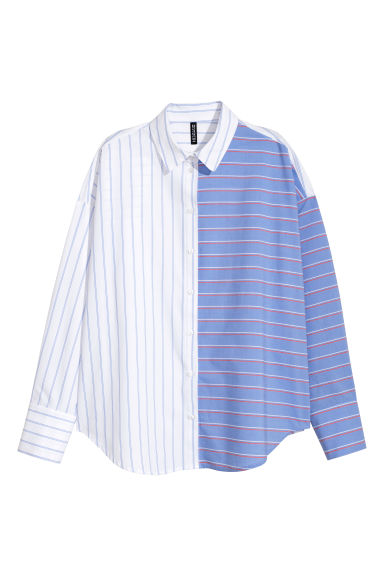 Cotton shirt - Light blue/White - Ladies | H&M