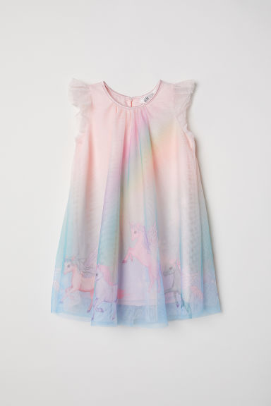 Tulle dress - Pink/Unicorns -  | H&M