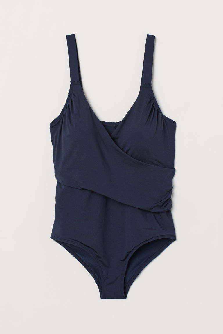 H&M+ Shaping swimsuit - Navy blue - Ladies | H&M