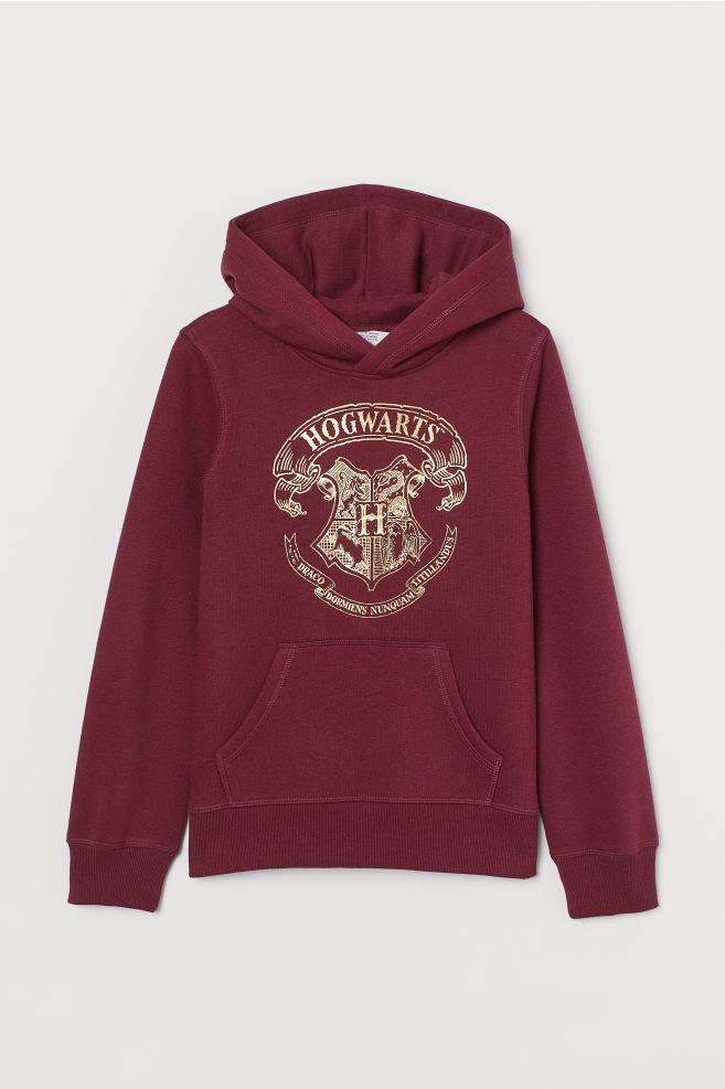 Sudadera con capucha y motivo - Rojo oscuro/Harry Potter - NIÑOS | H&M ES 2