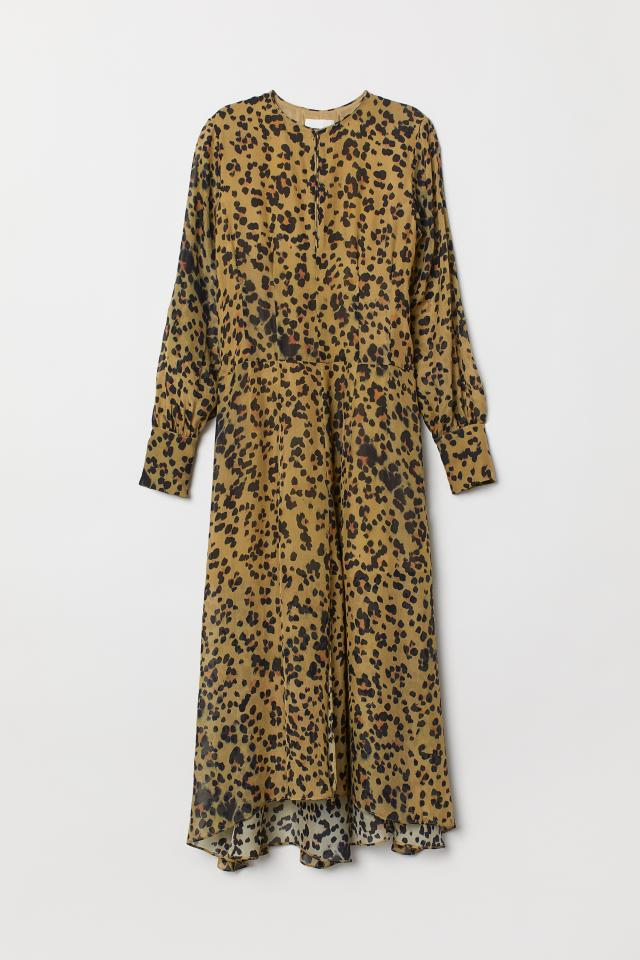 terrific value shop for original laest technology Leopard-print silk dress