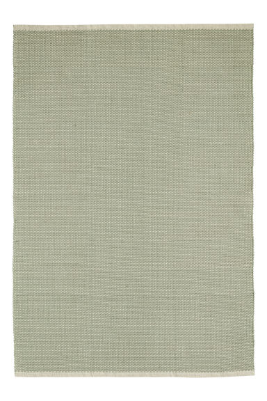 Cotton rug - Natural white/Light green - Home All | H&M IE