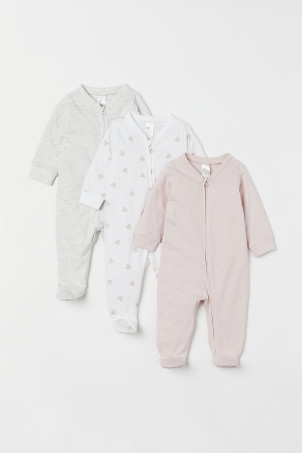 3-pack Jumpsuits with Zipper