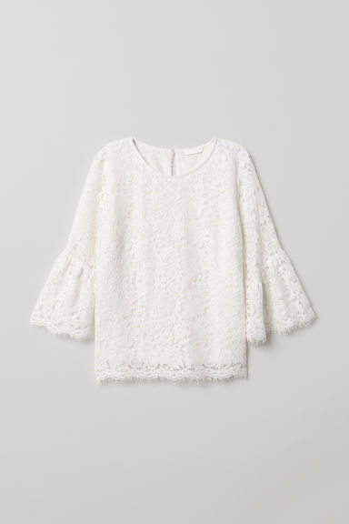Lace blouse - White - Ladies | H&M