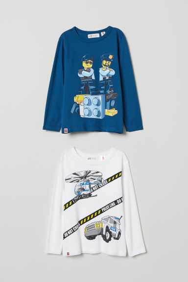 T-shirt stampate, 2 pz - Blu scuro/LEGO City - BAMBINO | H&M IT
