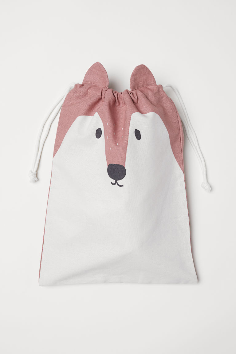 Drawstring storage bag - Dark pink/Fox - Home All | H&M CN