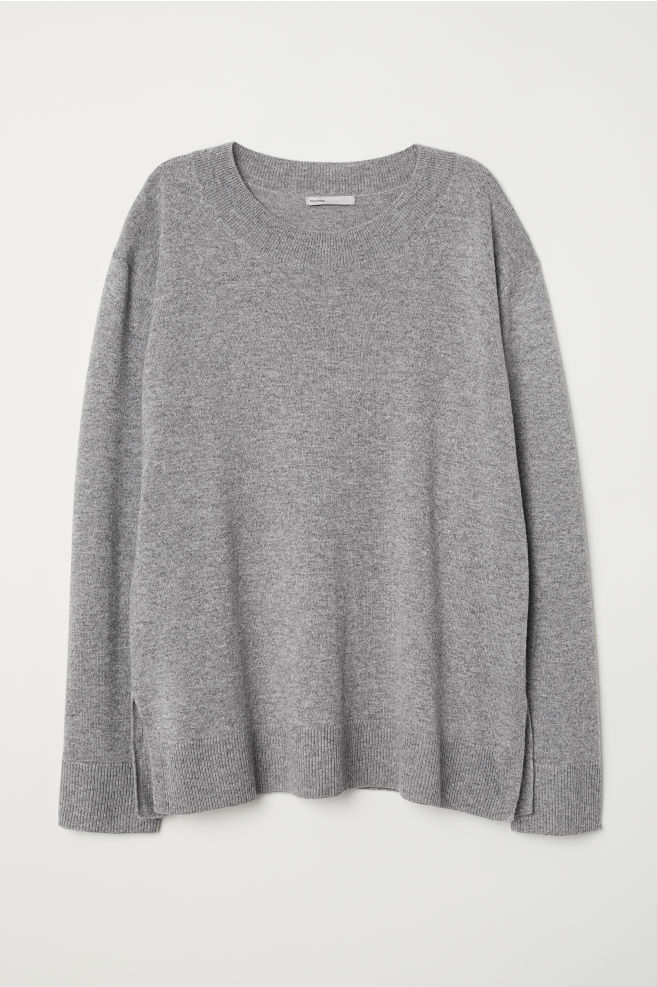 16a7580a690ad9 Cashmere jumper - Grey marl - Ladies | H&M ...