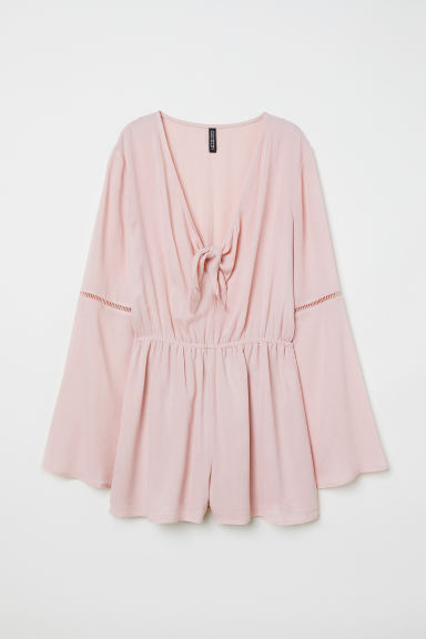Playsuit with knot detail - Old rose - Ladies | H&M CN