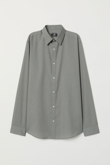 Camicia easy-iron Slim fit - Verde kaki - UOMO | H&M CH