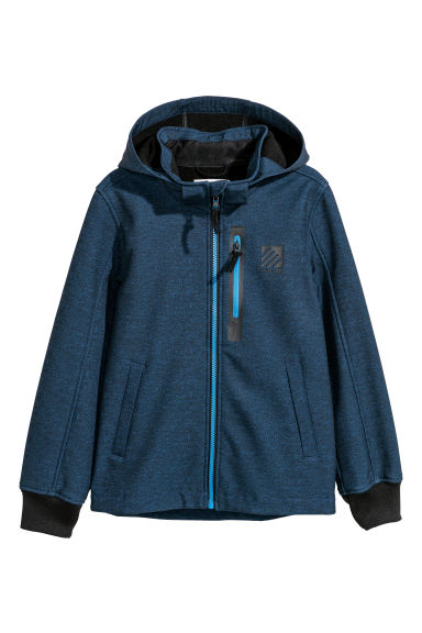 Softshell jacket - Dark blue marl - Kids | H&M