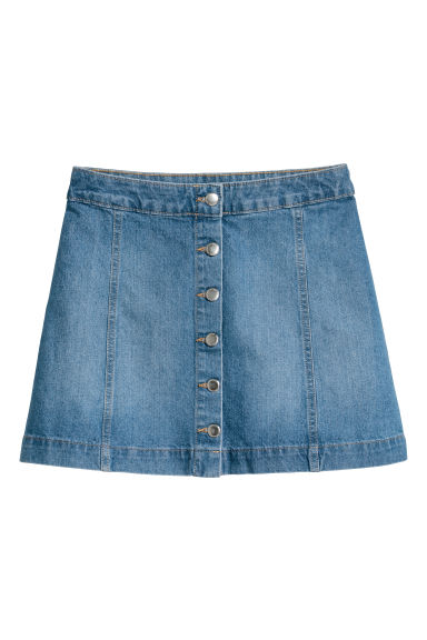 Short skirt - Denim blue -  | H&M