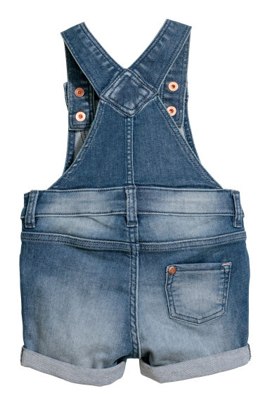 design raffinato online in vendita shopping Salopette corta in denim - Blu medio - BAMBINO | H&M IT