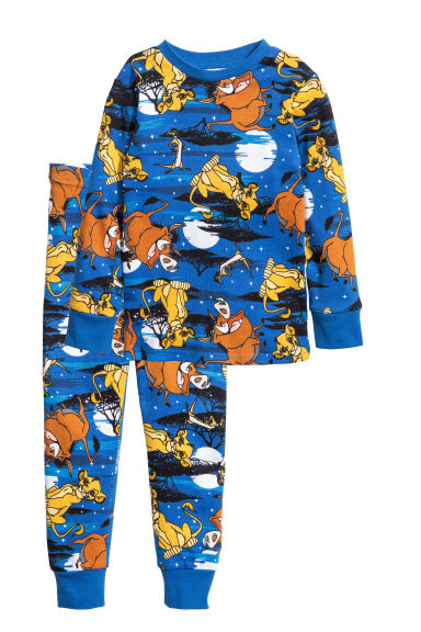 Jersey pyjamas - Blue/Lion King - Kids | H&M CN