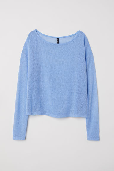 Fine-knit jumper - Light blue - Ladies | H&M CN