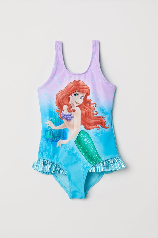 517c70cea7 Printed swimsuit - Purple/The Little Mermaid - Kids | H&M ...