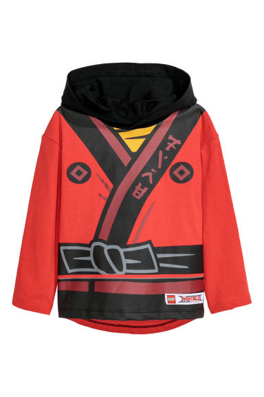 Jersey hooded top - Red/Lego - Kids | H&M