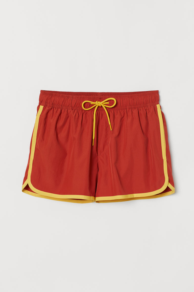Short swim shorts - Rust brown - Men | H&M